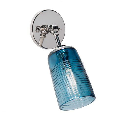 Tracy Glover Studio Dixie Pivot Sconce in Steel Blue with half Wrap pattern